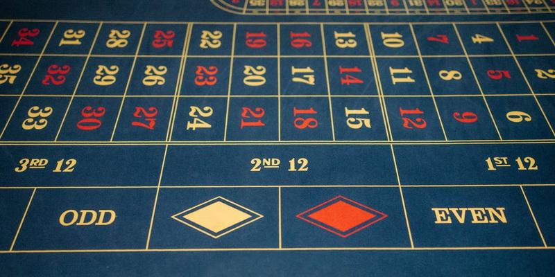 Ruletės stalas ant kurio atliekami statymai ir naudojamos populiariausios ruletės strategijos